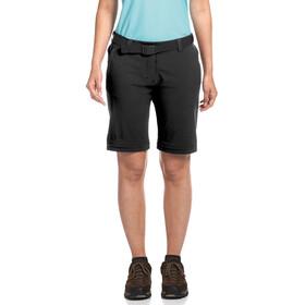 Maier Sports Nata 2 Pantalon convertible avec fermeture éclair Femme, black